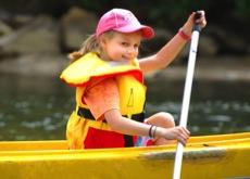 Kayaking on Merricks Creek at Lord Somers Camp