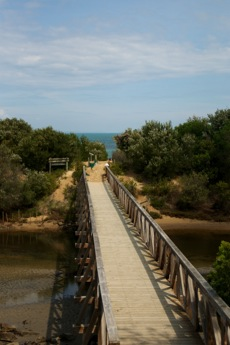Footbridge to the beach